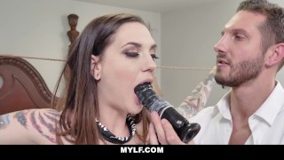 Tattooed Milf Rocky Emerson Receives Orders From Dominating Stranger