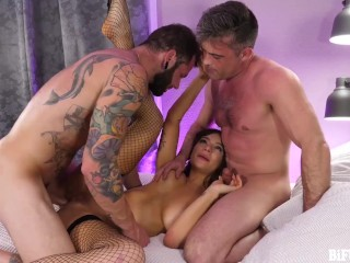 April Olsen Joins Lance Hart & Johnny Hill in Bi Bareback Threesome family orgy bisex