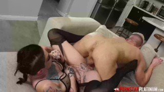 PORNSTARPLATINUM Inked Babe Sully Savage Moans From Big Dick