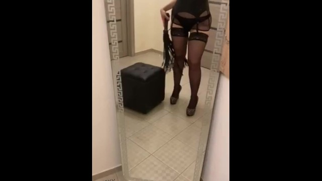 Your mistress with a whip is ready to humiliate you!