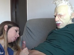 I fuck an old man and I get all the cum out of him 4KHD