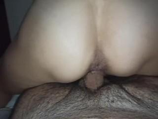 She fucks me and I cum with pleasure