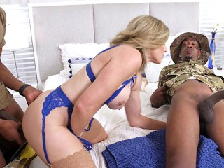 Madame Cory Chase Wants Anal Gangang And DP With Soldiers' Big Black Cock