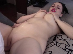 Cheerleader takes facial and needs creampie