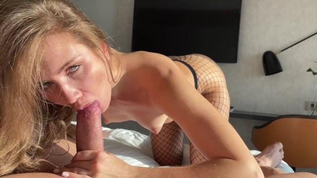 POV with pretty blonde girl