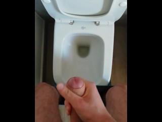 Huge Cumshot is better than pee
