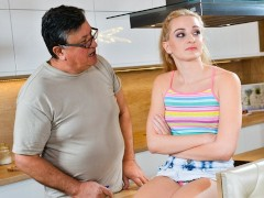 GrandpasFuckTeens Thirsty 18yo Girl Seduces Her Mature Stepdad With Her Tight Pussy