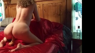 Catalina riding her toy and cumshot