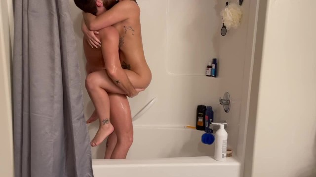 Wet, Wild, and Rough Shower fuck for perfect Redheaded Beauty