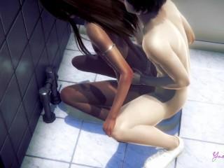 Yaoi Femboy Dan – He gets fucked in a Japanese public restroom