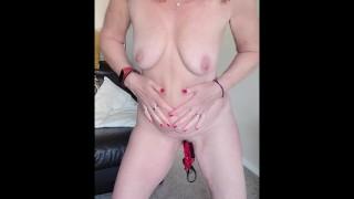 Buy My Panties? Mature British MILF Inserts Panties into Pussy, Sniffs Them & Posts them !