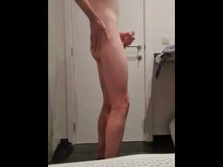Teen twink shows dick and ass