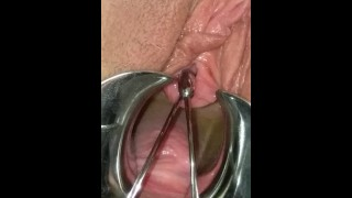 BDSM Pussy Torture Urethral Stretching Medical Fetish Speculum Peehole Play