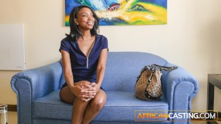 Beautiful Black Model Fucked Hard In Casting Interview