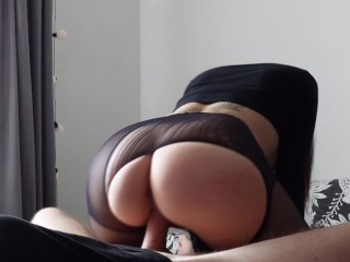 Passionate Blowjob and Real Orgasm to the point of trembling in the legs!
