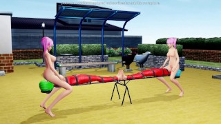 Let's Play On The Seesaw (Yuri Bondage Sex) - 3D MMD