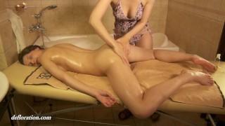 Amazing sensual virgin massage of Rita