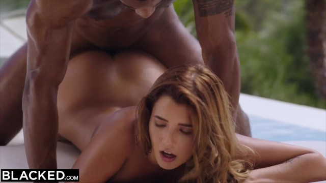 BLACKED Young Eurobabe gets her fill of BBC on vacay