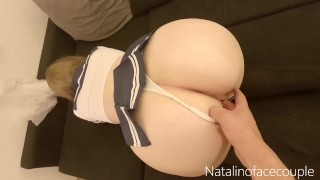 Shameless schoolgirl gets a really hard cock in her pussy POV riding crempie please CUM INSIDE ME!