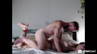 Amateur couple Slutstatis gets hog tied, spanked and fucked in bdsm session