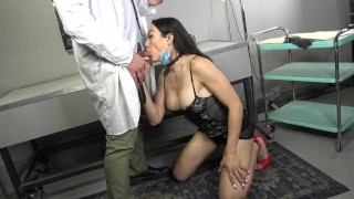 Busty Trans Babe Raw Examined By Doctor Colby Jansen