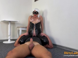 femdom facesitting clit licking and blowjob 69 until she returns the cum to his mouth