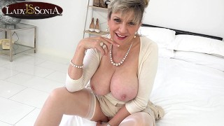 Horny mature Lady Sonia's JOI for a special fan