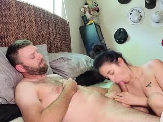 I love sucking my man's cock toon porn