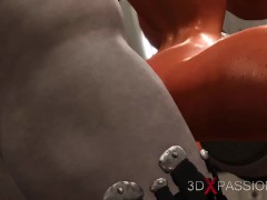 Sex male android bangs hard a hot woman with big boobs in the sci-fi lab