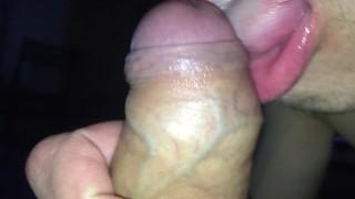 Gagging And Sucking My Big Cock Until It's Cum !