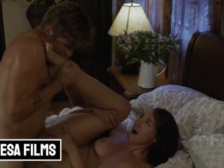 Bellesa – Bella Rolland Sneaks Nathan Bronson Into Her Room & Their Hands Are All Over Each Other