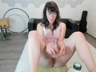 Dildo suck and pussy teasing