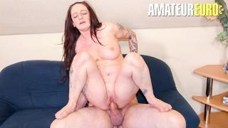 ReifeSwinger - Adrienne Kiss Big Tits German Brunette Fucked Hard In Her Mature Pussy