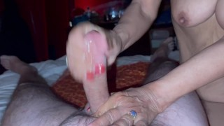 Rough service by Thai granny at the Asian Massage Parlor