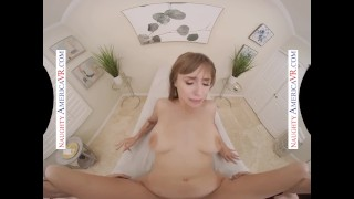 Naughty America - Your massage gets Angel Youngs extremely wet and horny for your big cock in her ho