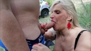Hungarian MILFS sucking big cock in amateur public recording