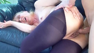 first anal for 85 years old granny