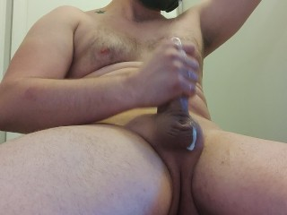 Shooting a big load from my thick cock for you