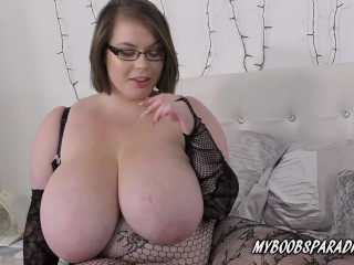 BBW Georgina Gee in bodystocking plays with huge tits xporntube
