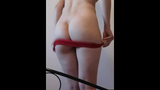 I'M TRYING ON MY PANTIES!! ENJOY AND TRY NOT TO JERK OFF!!