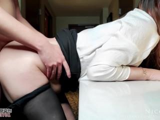 Horny Secretary Serving Her Boss Ended Up Not Having Enough - NicoLove