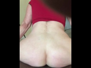 Anal Granny practices Reverse Cowgirl on hot neighbor