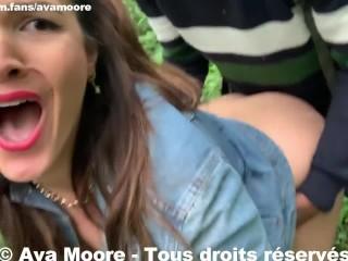 Ava Moore - Baisées par 2 Blacks dans les bois avec une milf - PORNO REALITE