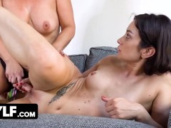 Thicc Assed Mature Slut Spices Up The Boring Quarantine With Some Strap On Pleasures With Milf GF