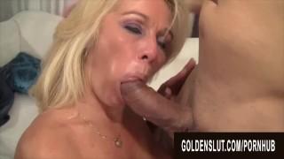 Golden Slut - A Grannys Special Blowjob Compilation