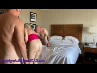 SUPER HOT # WAY!!!! PhoeniXXX fucks her Bull and Husband in a hotel room in a hot 3 way!