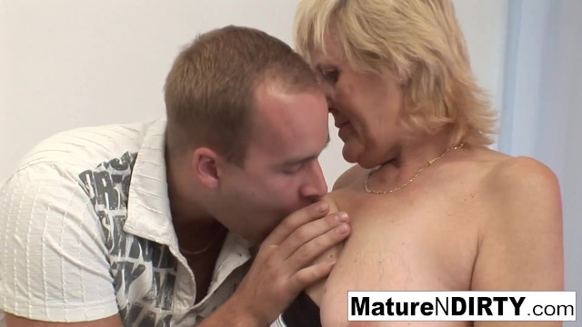 Old Grandma Loves Getting Pounded On The Couch