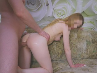 stepbrother helps me with my first anal