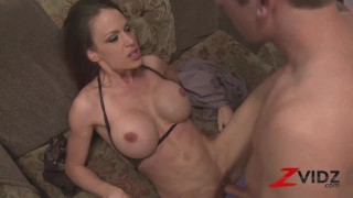ZVIDZ - Busty Mckenzie Lee Cowgirl Pussy Drilled After BJ
