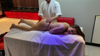 hot crown earns her husband's night voucher and goes to a massage parlor for women only. part 2